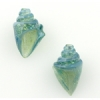 Lamp Bead Nobilis Shell 2Pc 25mm Sea Green Sparkle